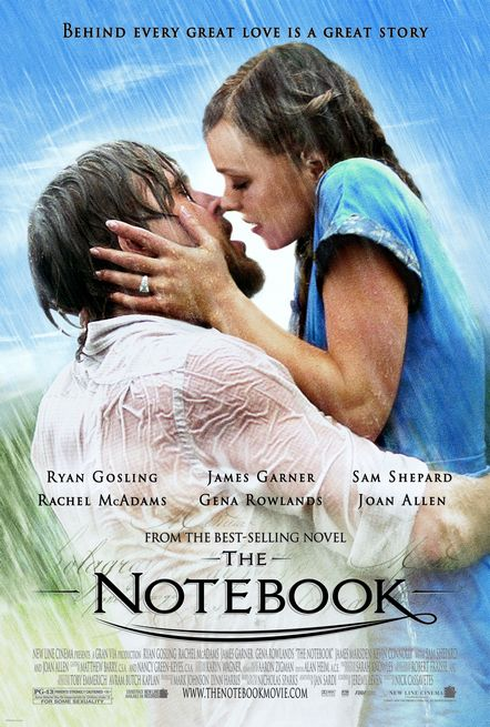 The Notebook poster: Ryan Gosling and Rachel McAdams