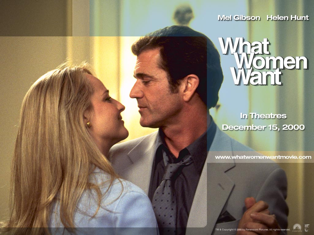 Mel gibson and helen hunt in what women want co starring marisa tomei