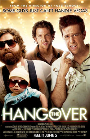 The Hangover starring Bradley Cooper. This might be the most outrageous