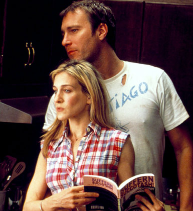 Sarah Jessica Parker and John Corbett in Sex and The City