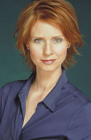 Cynthia Nixon as Miranda Hobbes in Sex and The City