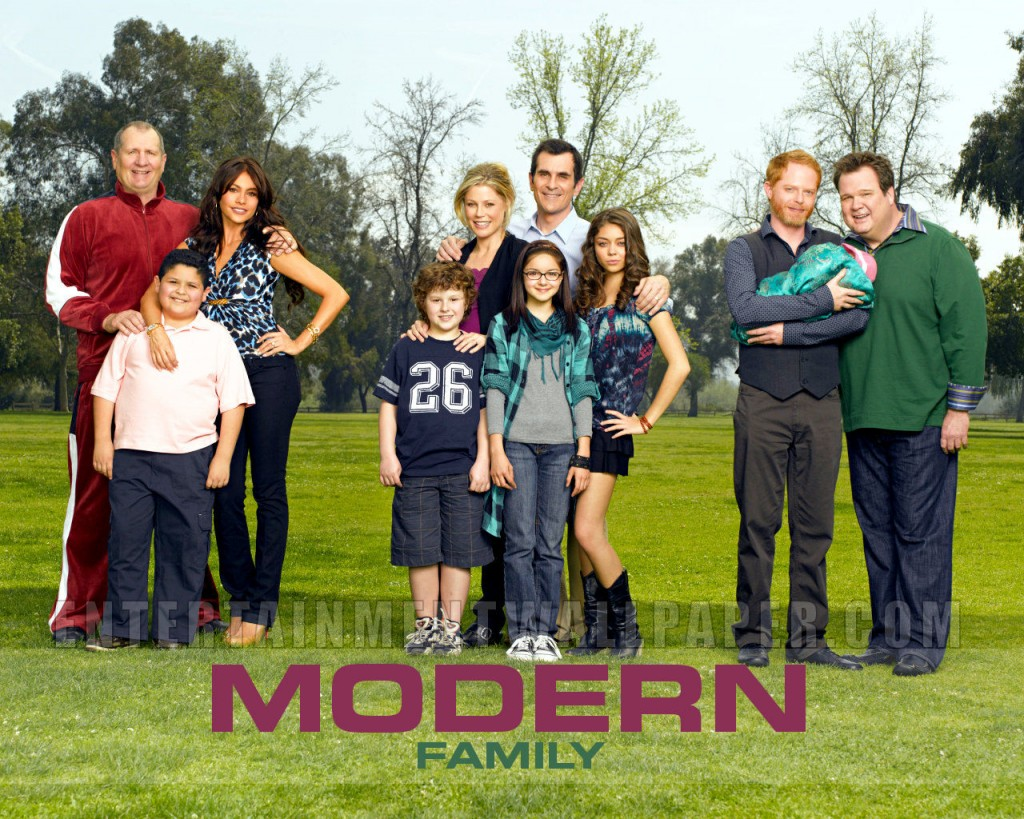 on TV, Modern Family.