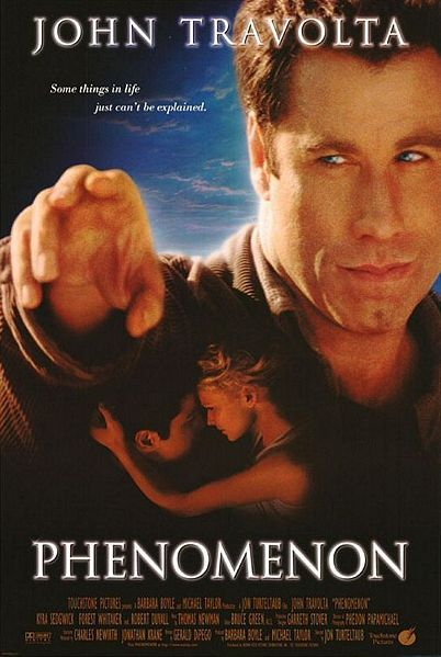 Phenomenon starring John Travolta, Kyra Sedgwick, Forest Whitekar and Robert Duvall