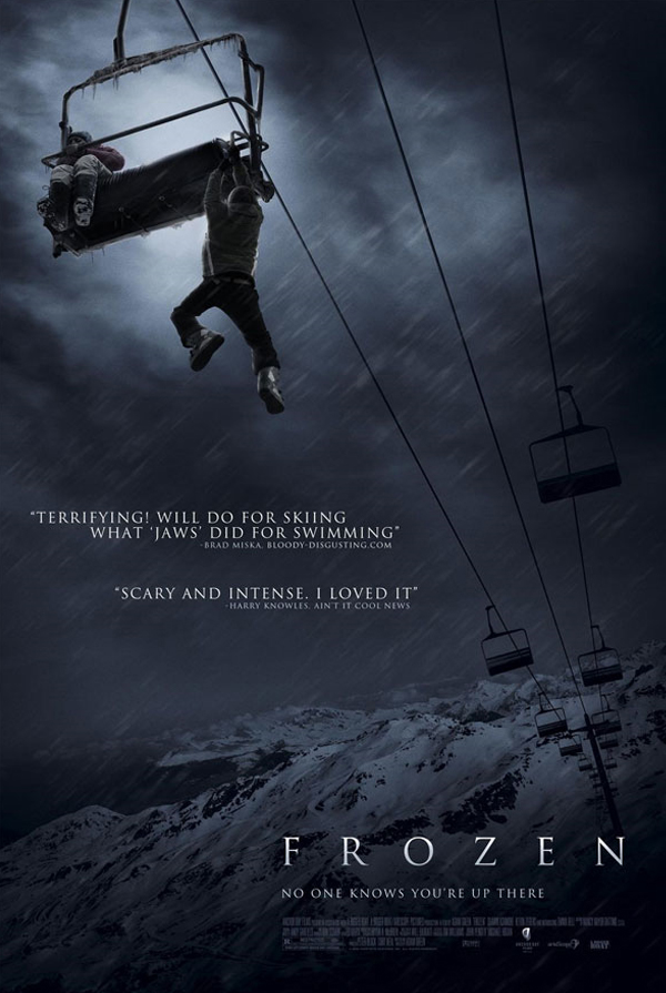 Frozen starring Kevin Zegers, Shawn Ashmore and Emma Bell.