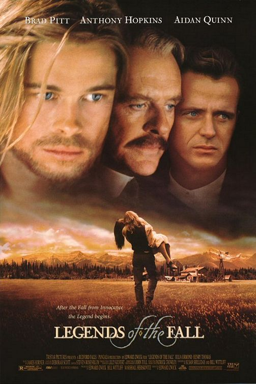 Legends of the Fall starring Brad Pitt, Julia Ormond, Aidan Quinn, Anthony Hopkind & Henry Thomas