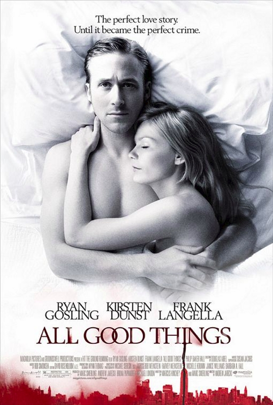 All Good Things starring Ryan Gosling, Kirsten Dunst & Frank Langella