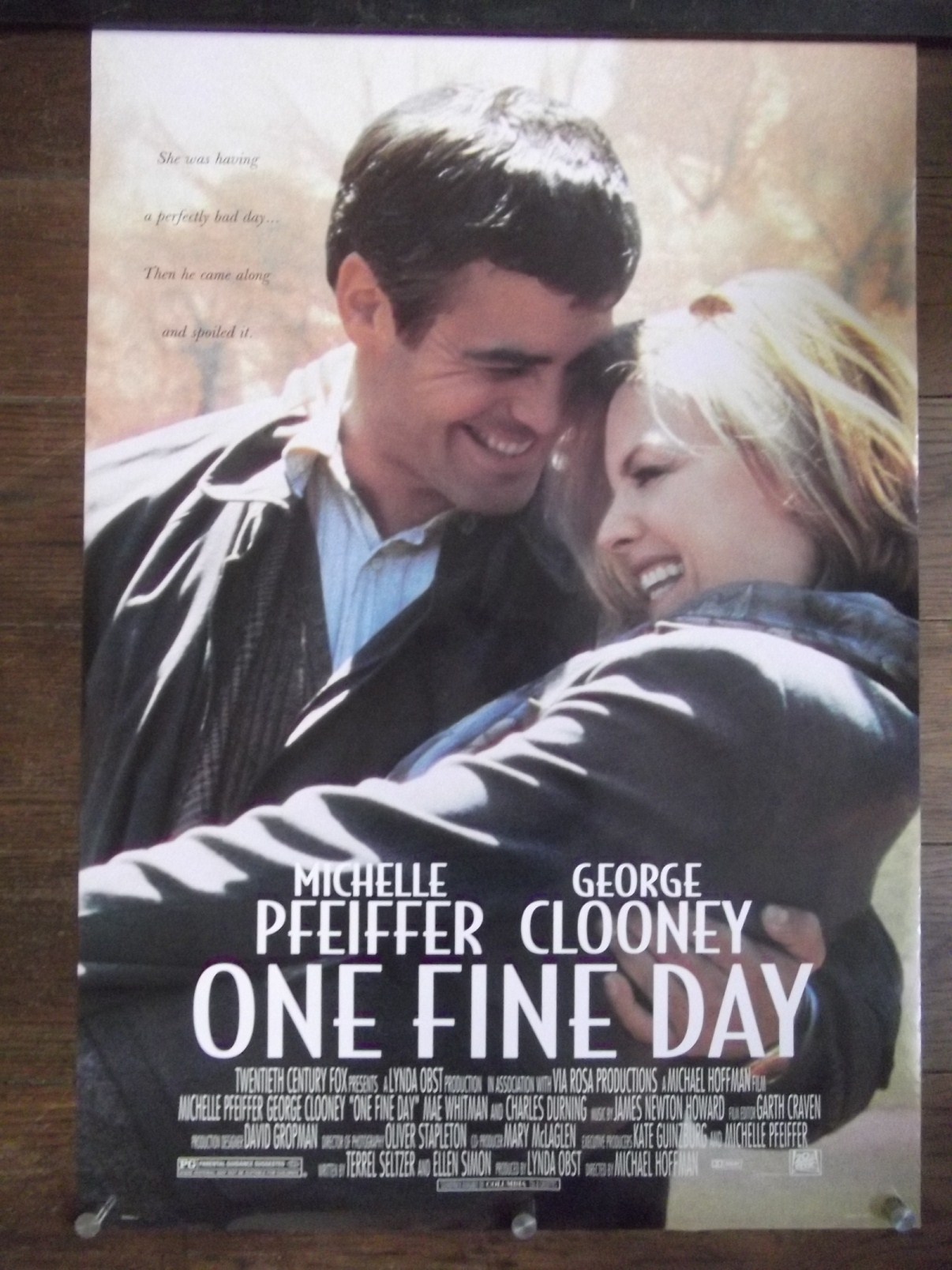 George Clooney and Michelle Pfeiffer- One Fine Day movie ...