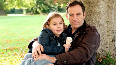 Jason Isaacs with his on-screen daughter, Case Histories