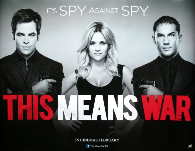 This Means War movie poster - movie starring Reese Witherspoon, Chris Pine & Tom Hardy