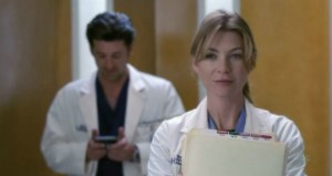 Derek and Meredith in the elevator- Grey's Anatomy