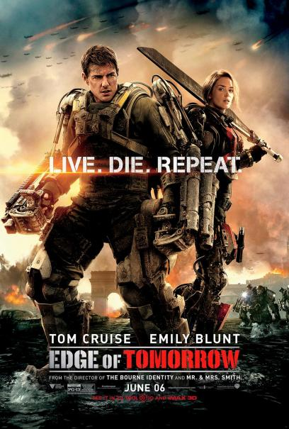 Edge of Tomorrow starring Tom Cruise and Emily Blunt