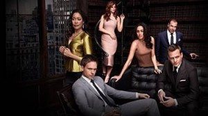 Suits Series Cast: Gina Torres, Patrick J. Adams, Sarah Rafferty, Meghan Markle & Gabriel Macht