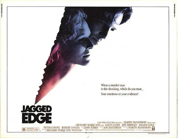 Jeff Bridges and Glenn Close in Jagged Edge
